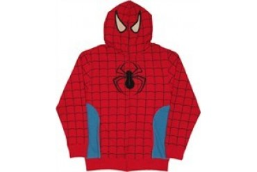 Marvel Comics Amazing Spider-Man Costume Hood Zip Full Zipper Hooded Sweatshirt