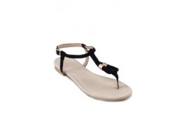 EZRA by ZALORA T Bar Flat Sandal With Tassels