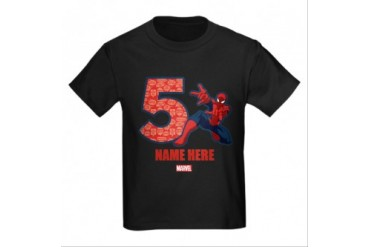 CafePress SPIDER-MAN PERSONALIZED 5TH BIRTHDAY T-SHIRT