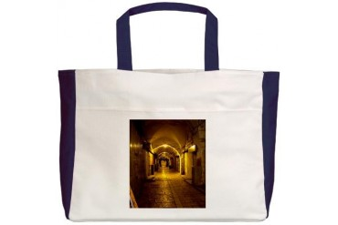 oldcitystreetgreenlight.jpg Travel Beach Tote by CafePress