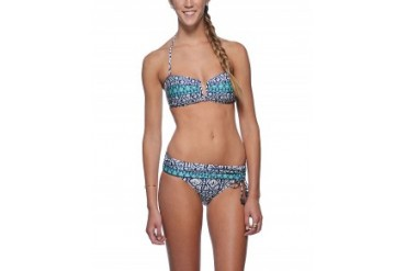Nanette Lepore 'Mix & Mingle' V-Bandeau Bikini Indigo, S
