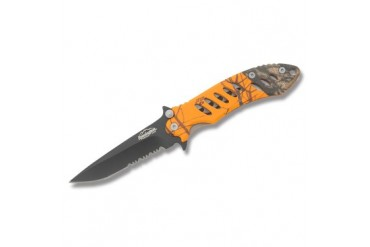 "Remington F.A.S.T. 5"" Framelock With Mossy Oak Blaze Handle - Clampacked"