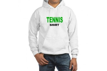 TENNIS SHIRT .png Funny Hooded Sweatshirt by CafePress