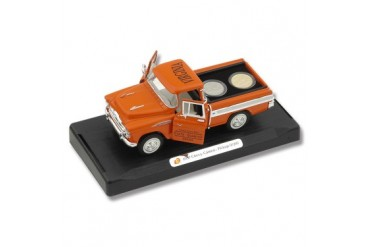 Frost Cutlery 1:28 Scale 1957 Chevrolet Cameo Pickup & State Quarters Gift Set - Virginia