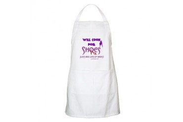 Will Cook For Shoes BBQ Apron