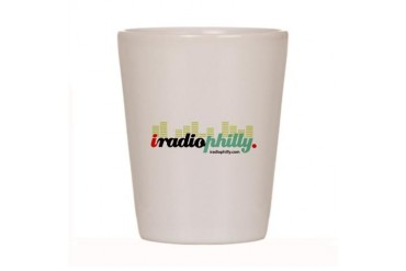iradiophilly Music Shot Glass by CafePress