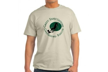 Bowing Pip Ash Grey T-Shirt Greyhound Light T-Shirt by CafePress