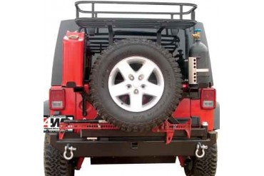 Rock Hard 4x4 Parts Rear Bumper with Tire Carrier includes 2 Inch Receiver and D-ring Mounts RH5001 Tire Carriers