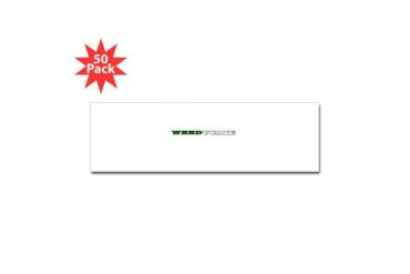 WEEDucate Marijuana Sticker Bumper 50 pk by CafePress