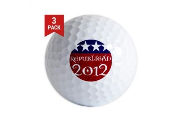 Old World Republican Republican Golf Balls by CafePress