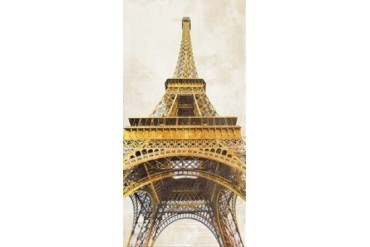 Gilded Eiffel Tower Poster Print by Joannoo (10 x 20)