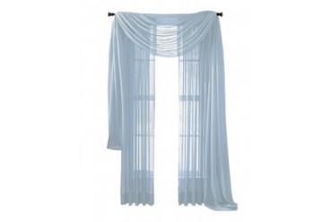 Moshells Home Decorative 84 Sheer Curtain Panel - Light Blue
