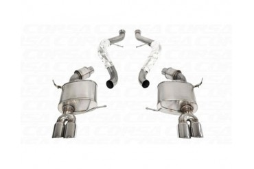 Corsa Polished Sport Cat-Back Exhaust BMW M3 Convertible E93 08-12