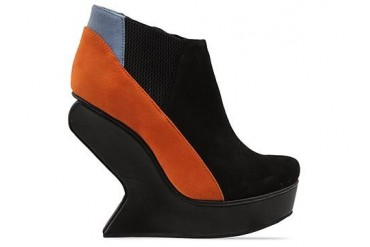 Senso Vanetta in Black Orange Blue Kid Suede size 8.0