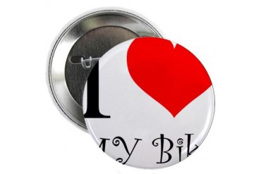 I Love my bike Cycling 2.25 Button by CafePress