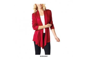 Popana Super-Soft Open-Front Draped Cardigan - Assorted Colors