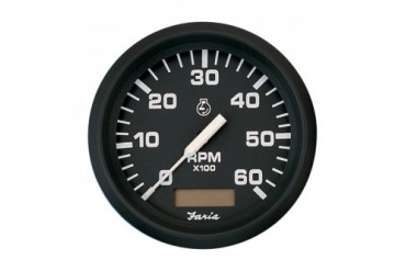 Tachometer With Hour Meter : Rl hm r large lcd green light tachometer hour meter for dirt