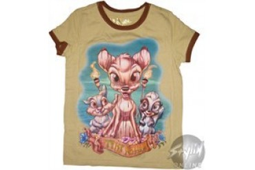 Disney Bambi Tiki Kingdom Ringer Youth T-Shirt