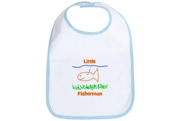 Little Fisherman Funny Bib by CafePress