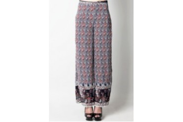 Now & Forever Parsley Printed Palazzo Pants
