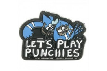 Regular Show Let's Play Punchies Mordecai Rigby Belt Buckle