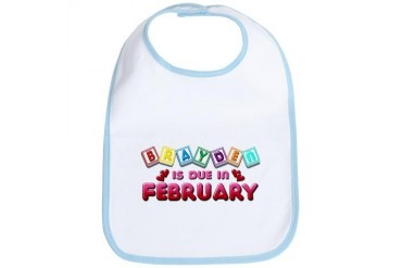 Brayden is Due in February.png Love Bib by CafePress