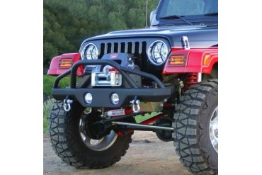 Rampage Front Recovery Bumper with Stinger in Textured Powder Coat 78510 Front Bumpers