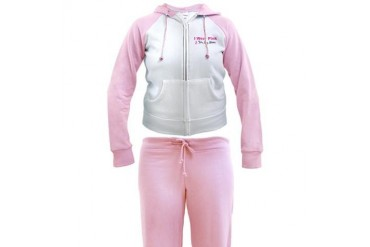 I Wear Pink For My Mom Breast cancer Women's Tracksuit by CafePress