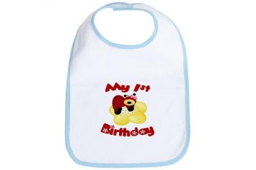 My 1st Birthday Ladybug Birthday Bib by CafePress