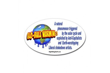 Glo-bull Warming: Oval Sticker