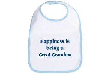 Great Grandma : Happiness Family Bib by CafePress