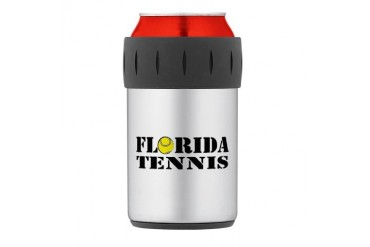 Florida Tennis.png Thermos Can Cooler Tennis Thermosreg; Can Cooler by CafePress
