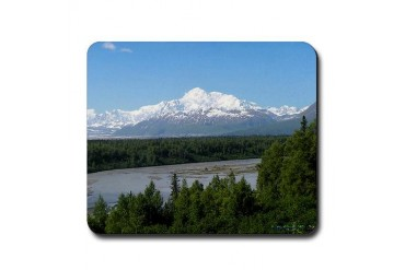 Mount McKinley Landscape Mouse Pad Photography Mousepad by CafePress