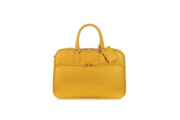 Travel Yellow Leather Double Handle Carry-on