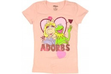 Muppets Miss Piggy Kermit Adorbs Youth Girls T-Shirt - Price Comparison