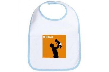 iDad Orange Father Baby Sports Bib by CafePress