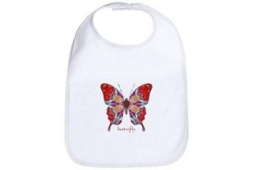 Attraction Butterfly Cool Bib by CafePress