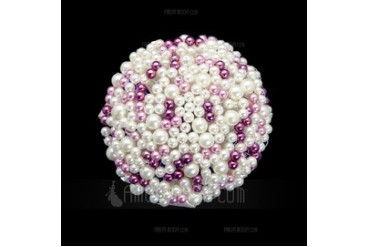 Eye-catching Round Pearls Bridal Bouquets (123040051)