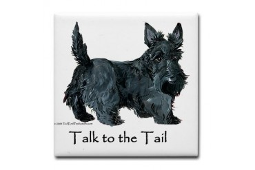 Scottish Terrier Attitude Pets Tile Coaster by CafePress