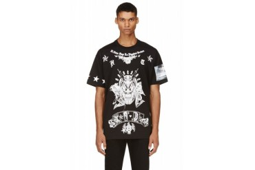 Givenchy Black Skulls And Playing Cards T shirt