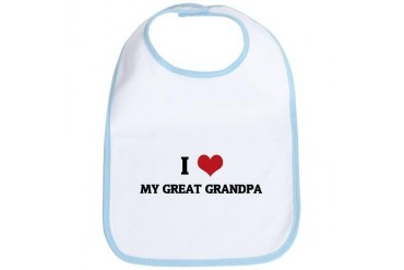 I Love My Great Grandpa Family Bib by CafePress
