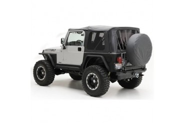 Smittybilt Replacement Soft Top with Tinted Windows, Black Diamond 9970235 Soft Tops
