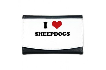 SHEEPDOGS.png Funny Mini Wallet by CafePress