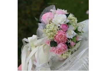 Colorful Round Satin/Organza Bridal Bouquets (124032115)