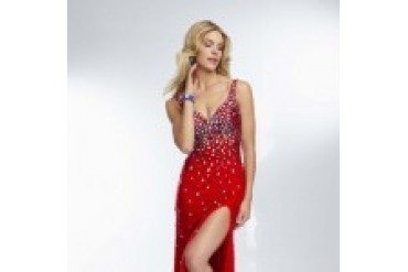 "Mori Lee Paparazzi ""In Stock"" Red Dress - Style 95118"