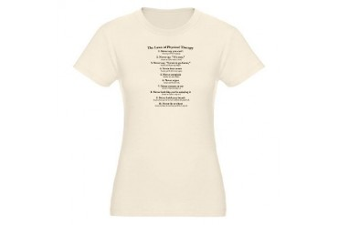 Laws of P.T. T-Shirt Funny Organic Women's Fitted T-Shirt by CafePress