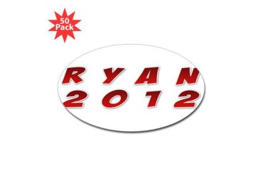 Romney 2012 Math Sticker Oval 50 pk by CafePress