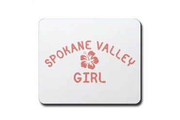 Spokane Valley Pink Girl Location Mousepad by CafePress