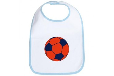 Blue and Orange Soccer Soccer Bib by CafePress