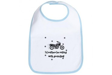 Rather be riding with Grandpa Baby Infant Bib